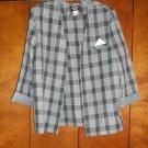 Ladies Gray Checkered Jacket - Size 18 (Amanda Blair)
