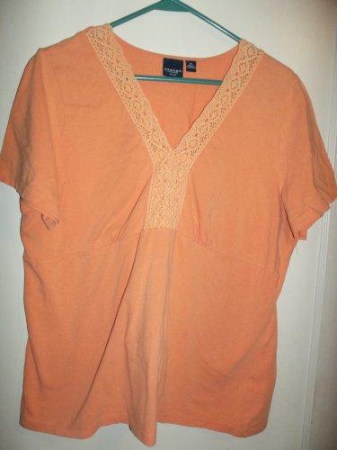 Ladies Orange Shirt - Size 1X - (Sonoma)