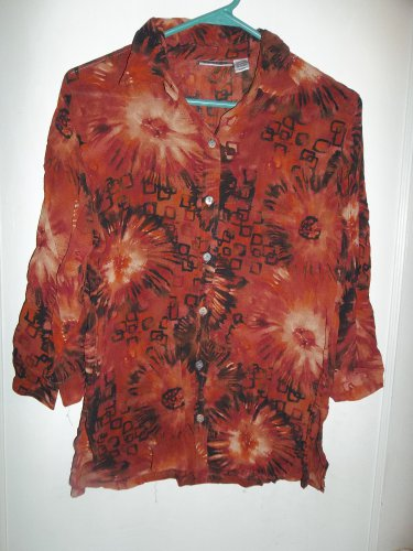 Multi-Colored  Ladies Button Up Blouse - Size 0 (Chico's)