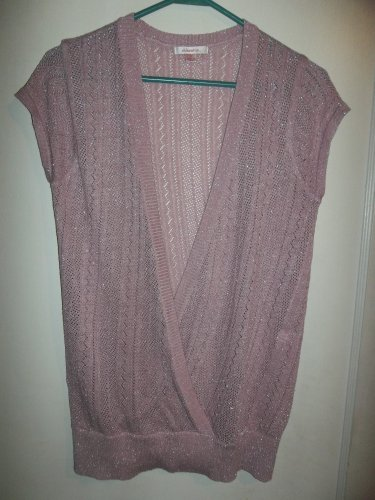 Mauve With Silver accents Ladies Shirt - Size M (Xhilarations)