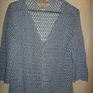 Ladies Lt. Blue Over Shirt/Jacket - Size L (Norm Thompson)