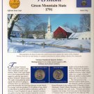 Vermont State Quarters (P&D) and Stamps - Mint Condition