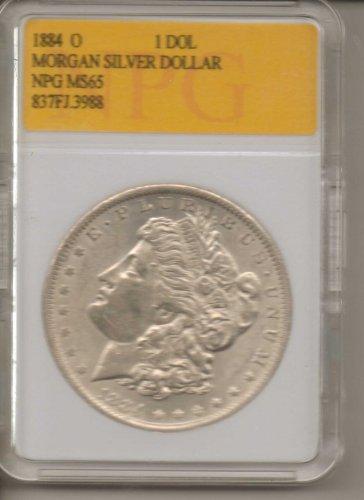 1884 O Morgan Silver Dollar NPG MS65 837FJ.3988