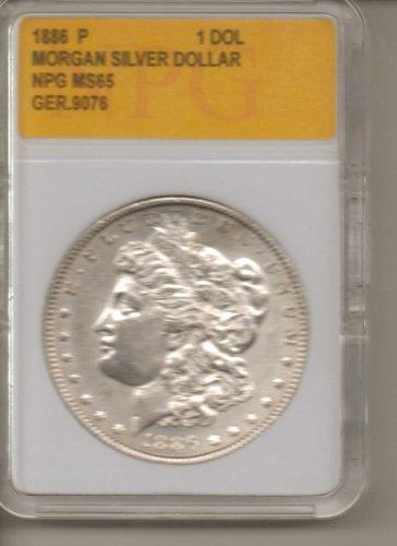 1886 P Morgan Silver Dollar NPG MS65 GER.9076