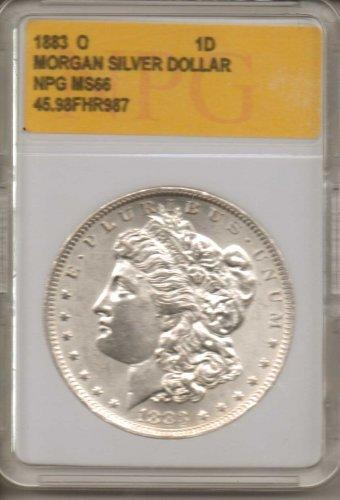 1883 0 Morgan Silver Dollar NPG NS66 45.98FHR987