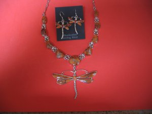 Sterling Silver Spiny Oyster Necklace and Earrings
