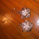 Sterling Silver 925 Flower Earrings