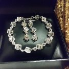 Crystal Sterling Silver Box Jewelry Set