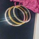 RLL Ralph Lauren Signature Bangle Bracelets Goldtone and Silvertone Set of 3