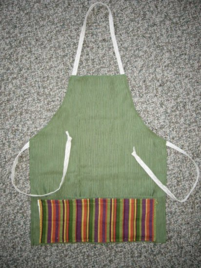 Adult Apron Green and Multi