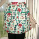 Christmas Stair Step Half Apron