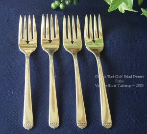1881 Rogers 'Surf Club' Silverplate Salad Forks - New