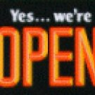 Open Sign with Sliding Message Board (20x14) ORANGE BOLD