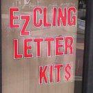 "5"" VINYL STATIC CLING REUSABLE WINDOW SIGN KIT"