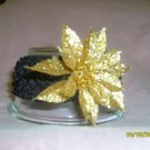 Black w/ gold flower