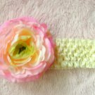 Ivory w/ pink flower