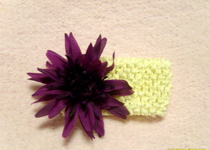 Ivory w/ purple flower