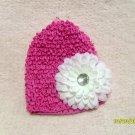 Magenta crochet beanie