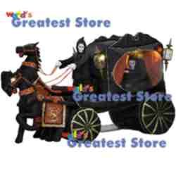 12' Hearse Rising Reaper Halloween Airblown Inflatable