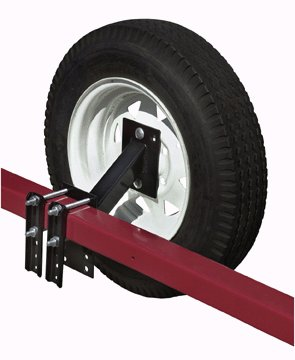 Trailer Spare Tire Carrier, 4 & 5 Lug Tires