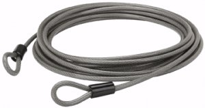 "30 Ft. x 3/8"" Steel Braided Cable with Loop Ends"