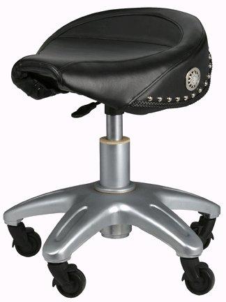 Biker Style Pneumatic Adjustable Roller Seat Stool