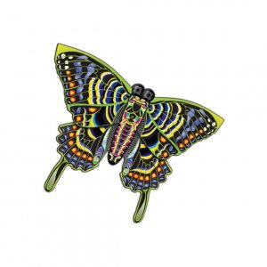"Butterfly Multicolored Nylon Kite 54"" Wing Span Free Winder"