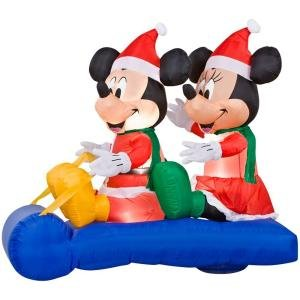 Disney 5 ft. LED Lighted Mickey and Minnie's Scene Airblown