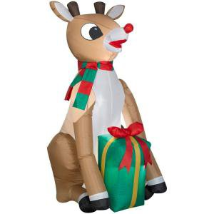 4 ft. Lighted Rudolph Reindeer Airblown Airblown Inflatable