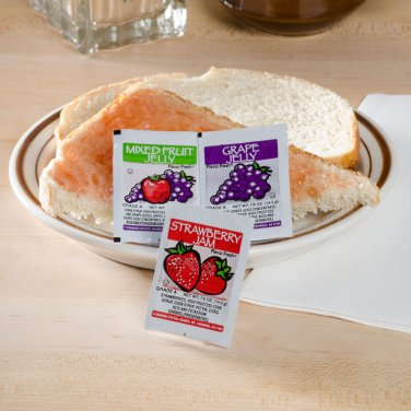 Smuckers Grape, Strawberry & Mixed Fruit Jelly - (200) .5 oz. Portion Cups