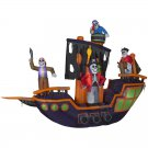 9.12-ft x 11.5-ft Animatronic Lighted Pirate Ship Halloween Inflatable
