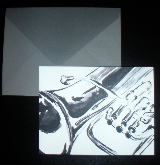 Euphonium Logo Postcards with Gray Envelopes