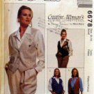 Mccalls 6678 - Misses Reversible Vest, Pin Pattern