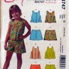 Mccalls M4747 - Girls Tank Top Shorts Skirts Pattern