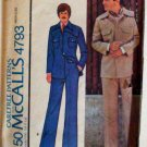 Mccalls 4793 - Mens Unlined Jacket and Pants Pattern - Vintage 1970s