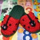 CROCHET PATTERN Lady Bug Toddlers Crochet Slipper ePattern