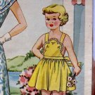 SEWING PATTERN VINTAGE Old Fashioned TODDLERS Bib Front Sundress ePattern PDF Sz 4