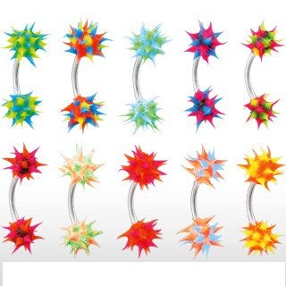 Eyebrow Curve w/ Silicone Spikey Koosh Ball