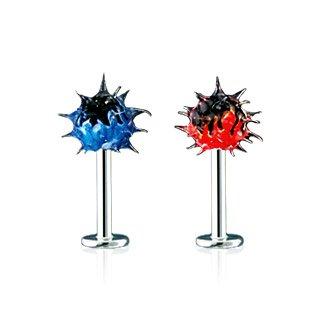 14g Blue Labret Flame Koosh