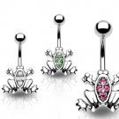 Clear Frog Navel Ring
