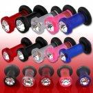 0g Black All UV Solid Single Flare Plug