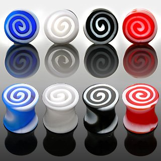 0g Red UV Tornado Saddle Plugs