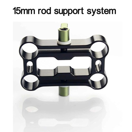 4 holes Rod clamp fr 15mm Rod Support Rail System DSLR Rig + free shipping via DHL