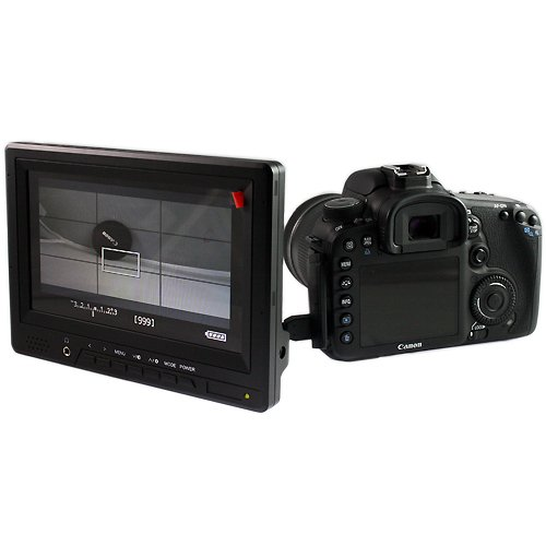 """COOLLCD HD2 7"""" On camera HD LCD Field Monitor w/ HDMI in HDMI out Component in Composite in"""