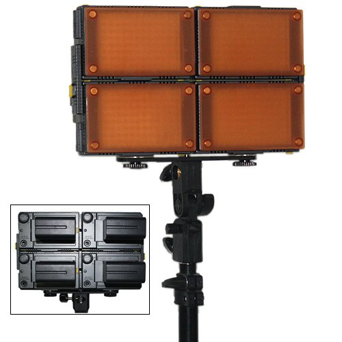 sale HDV-Z96(4pcs) LED Video Lights+F970 Batteries(4pcs)+support Stand+Battery charger(2pcs)