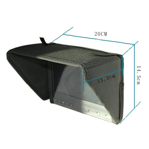 "Coollcd 8"" Sunhood/Sunshade For 8"" On Camera LCD Field Monitor+free shipping"