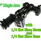 "7""Articulating Magic Arm fr 668GL 667GL 669HB w/hot shoe mount+Hot Shoe Base"