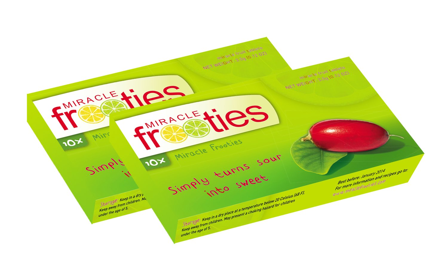 Miracle Frootie Miracle Fruit Tablets are the taste sensation that is MiraBurst Easy-Melt Miracle Berry Tablets (10 Count), Synsepalum Dulcificum, Turns Sour and Acidic Food Sweet, Made from Organic Miracle Fruit. by MiraBurst. $ $ 14 FREE Shipping on eligible orders.