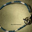 White & Blue Bracelet