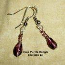 Deep Purple Dangle Earrings